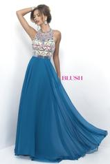 11349 Teal Blue/Nude/Multi front