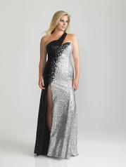 6784W Black Silver Sequined