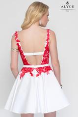 3689 Diamond White/Red back