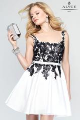 3689 Diamond White/Black front
