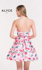 3709 Pink Floral Print back