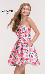 3709 Pink Floral Print front
