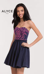 3751 Navy Blue/Fuchsia Pink front