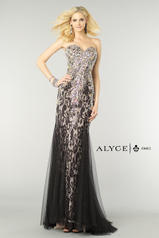 6390 Black/Nude front