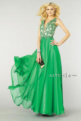 6418 Emerald/Nude front