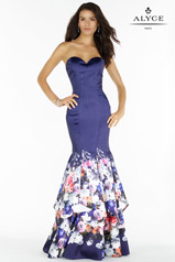 6796 Navy Print front