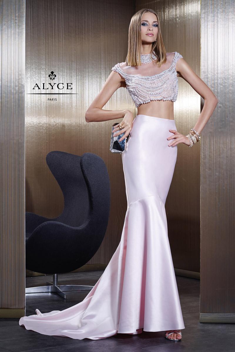 جدیدترین مدل لباس دو تکه  با پارچه ساتن مروارید دوزی شده
