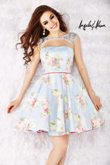 52012 Baby Blue/Floral front