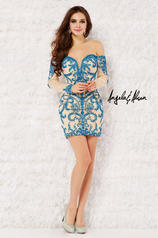 52033 Turquoise/Nude front