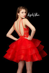 72007 Hot Red/Nude back