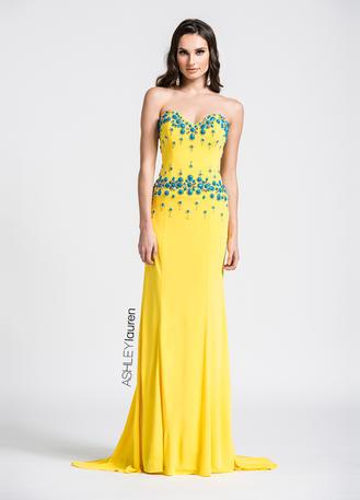ASHLEYlauren CollectionSweetheart Jersey Evening Dress