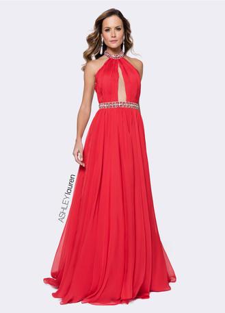 Beaded Chiffon Evening Dress