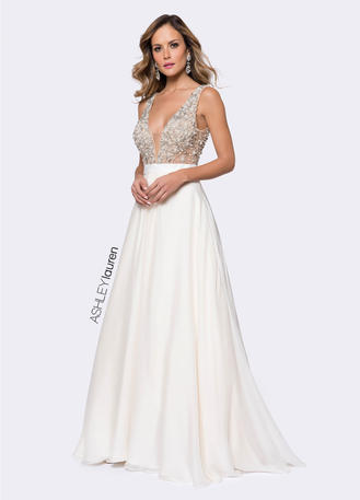 Beaded Bustier Ball Gown