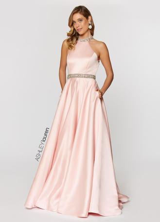 Beaded Halter Ball Gown