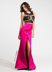 1124 Illusion Lace and Satin Evening Dress