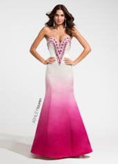 1131 Sweetheart Ombre Evening Dress