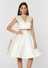 4052 V-Neck Two Piece Cocktail Dress