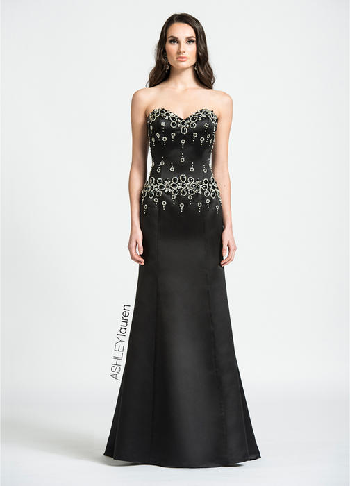 ASHLEYlauren CollectionSweetheart Beaded Evening Dress