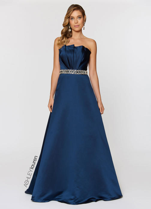 ASHLEYlauren CollectionBeaded Belt Ball Gown