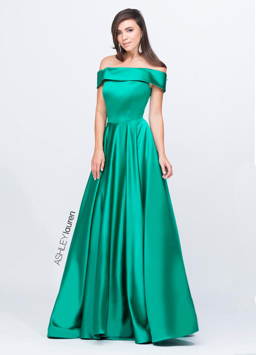 ASHLEYlauren CollectionOff Shoulder Ball Gown