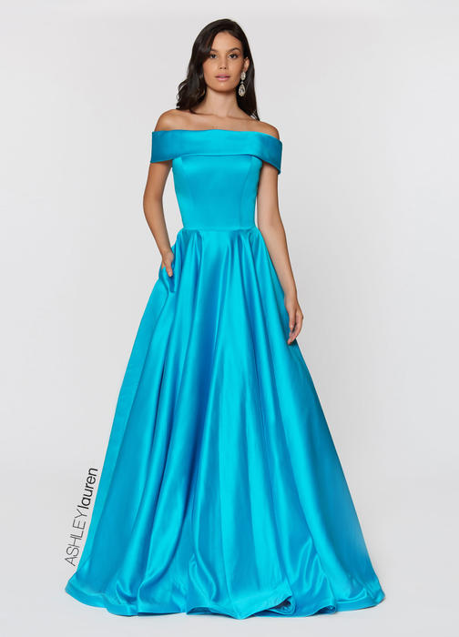 ASHLEYlauren CollectionOff Shoulder Ball Gown