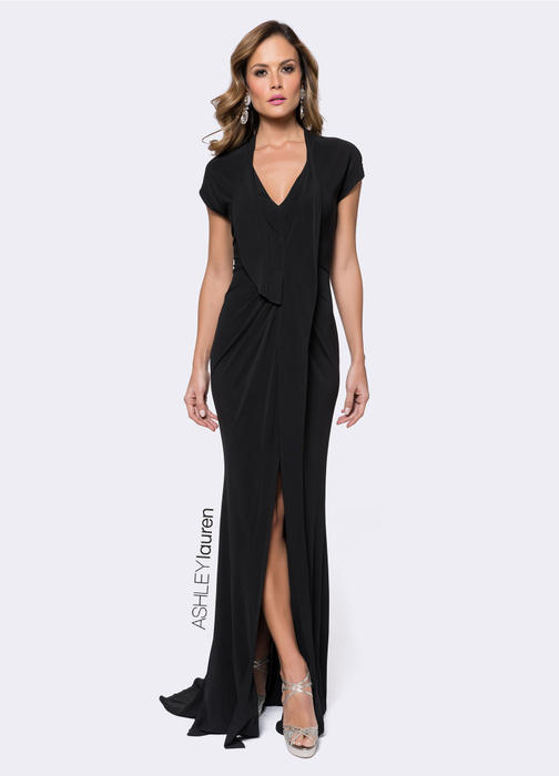 Draped Jersey Evening Dress