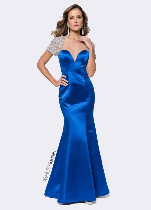 Illusion Sweetheart Evening Dress