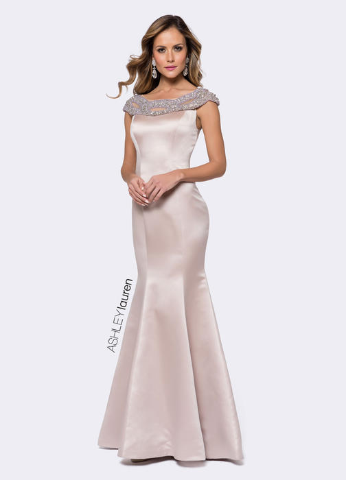 Trumpet Evening Dress with Beaded Accents