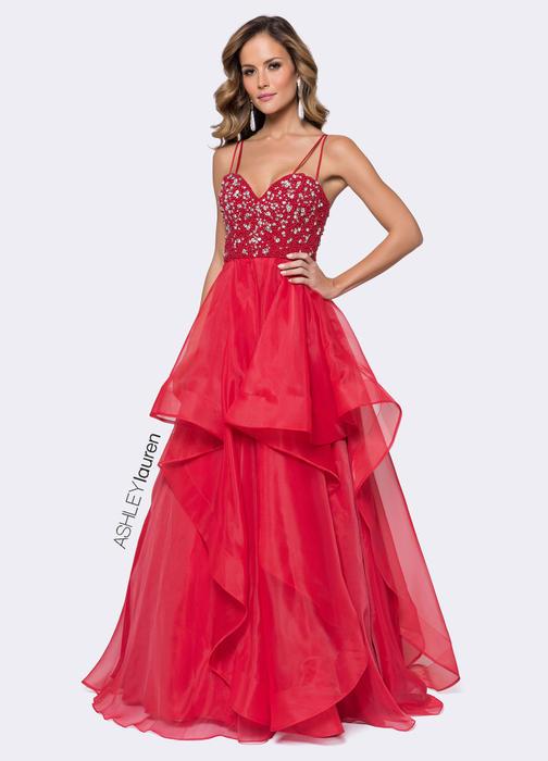 Beaded Bustier Evening Dress