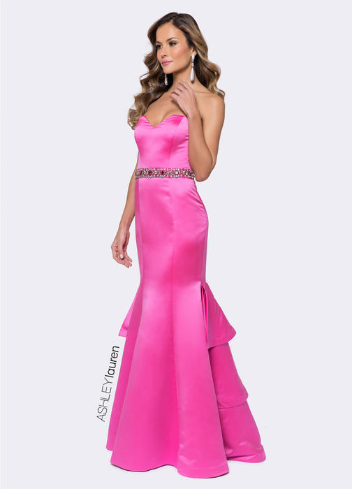 ASHLEYlauren CollectionStrapless Fit & Flare Evening Dress