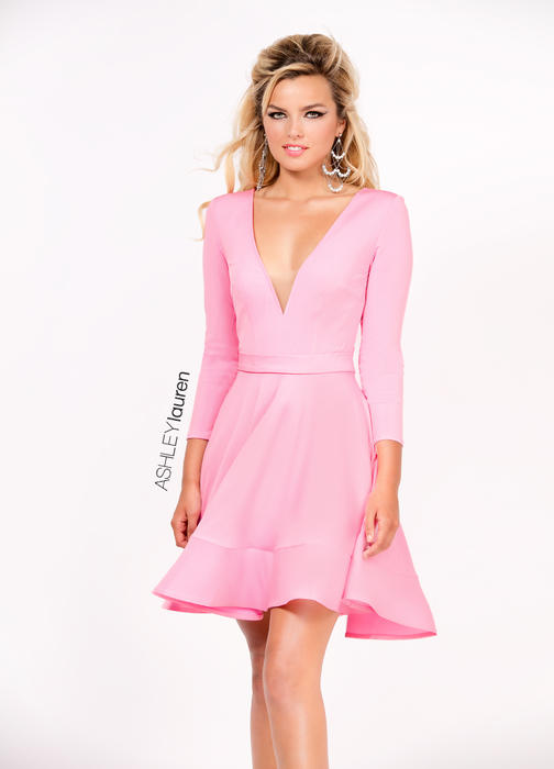 A-Line Jersey Cocktail Dress