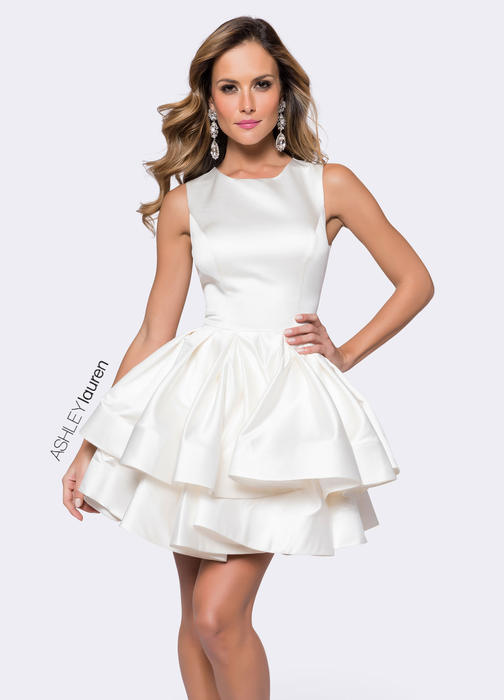 ASHLEYlauren CollectionPleated A-Line Cocktail Dress