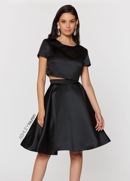 Two Piece A-Line Cocktail Dress