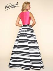 40589H Fuchsia Stripes back