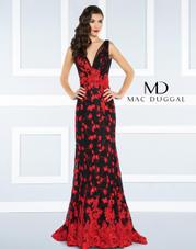 62871R Mac Duggal Black White Red