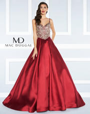 66285R Mac Duggal Black White Red