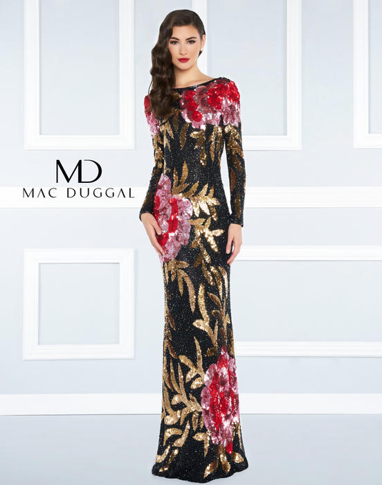 Mac Duggal Black White Red