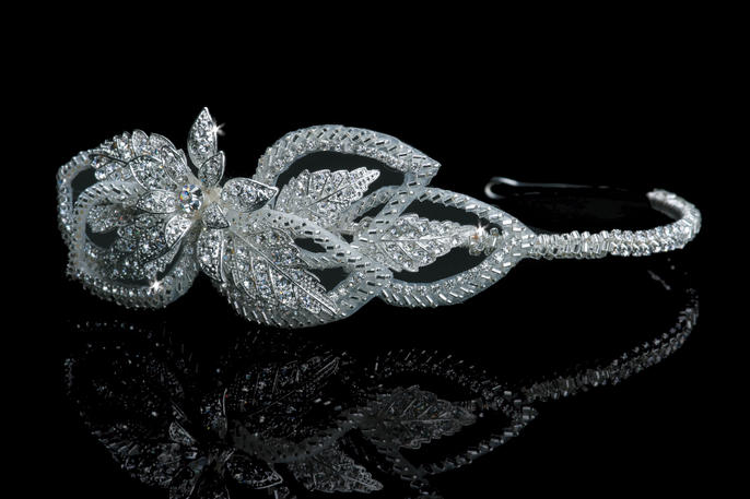 Silver Leaf 1920s Inspired Headband