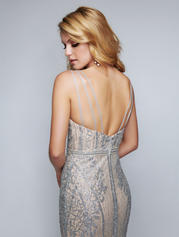 8155 Silver/Nude back
