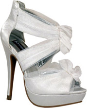 White Stiletto Platform
