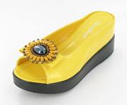 CFW-8127-17Yellow Helen's Heart Casual Shoes
