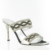 CS-69881-005_Silver_Black� Helen's Heart Couture Shoes