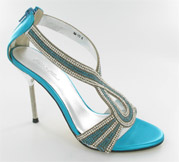 CS-AM-73_Turquoise� Helen's Heart Couture Shoes