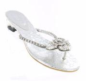 FS-3238-3_Silver_Clear� Helen's Heart Formal Shoes