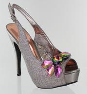 FS-6638-1-Silver-CV Helen's Heart Formal Shoes