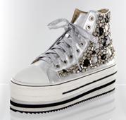FS-813-2-SILVER- Helen's Heart Formal Shoes