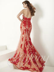 16155 Fire Red/Nude back