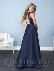 22770 Navy Shiny back