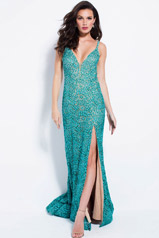58433 Teal/Nude front