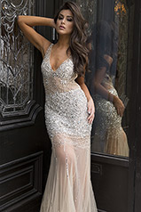 90736 Silver/Nude front
